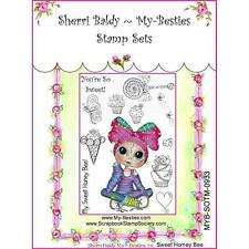NEW My-Besties Acrylic cling Rubber Stamp HONEY BEE SET Free US ship