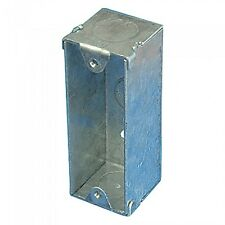 New Single Metal Architrave Recessed Pattress Knockout Back Box - 28mm