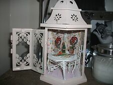 OOAK Dollhouse Miniature LANTERN with Light inside Love Romantic
