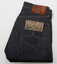 NEW Ralph Lauren RRL DOUBLE RL Selvedge Straight Leg Rigid Raw Denim Jeans 30/32
