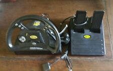 Team Mad Catz Dual Force Racing Steering Wheel & Pedals for Playstation