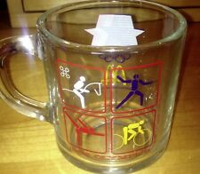 1984 OLYMPICS McDONALD'S GLASS MUG CUP USA Free Shipping!