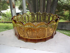 Fostoria COIN GLASS Amber Round Serving Vegetable Bowl