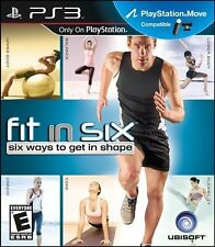Fit in Six PS3 Six Way to Get in Shape Fitness Game NEW SEALED