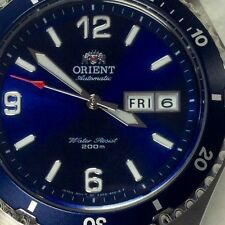 RELOJ  ORIENT AUTOMATIC BLUE DIAL SILVER WATCH MEN   MAKO  SPORTY  DIVER