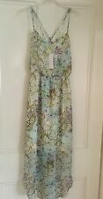 BCBGeneration ASOS Floral Print Strappy V Neck Maxi Dress - Multi - Size M 12