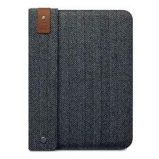Stafford Herringbone Grey Tweed & Leather Carry Pouch Case for Apple iPad 2/3/4