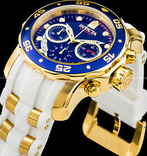 Invicta Men 48m Pro Diver Scuba Chronograph 18K Gold IP Stainless Steel PU Watch