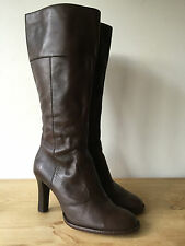 ALDO LADIES BROWN LEATHER KNEE HIGH BOOTS UK7