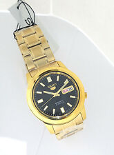 SEIKO Men GOLD Tone Automatic Watch Seiko 5 SNKK22K1 SNKK22  w/Seiko Box
