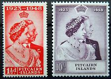 Pitcairn Islands British Kat. 13-14 MH * 1949 Kat. 30 Euro