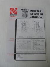 prospectus moteur fixe BERNARD type 112 C
