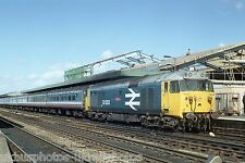 British Rail Class 50 50033 Oxford sidings 19/09/89 Rail Photo