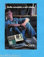 TOP990-PUBBLICITA'/ADVERTISING-1990- SONY - CASSETTE HF-S