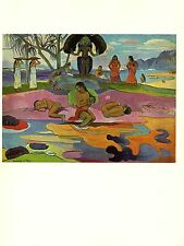 "1972 Vintage GAUGUIN ""THE DAY OF THE GOD"" TAAROA MAORI COLOR offset Lithograph"