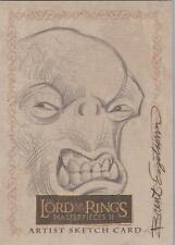 "Lord of the Rings Masterpieces II - RARE Brent Engstrom ""Cave Troll"" Sketch Card"