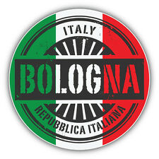 Bologna Italy World Flag Stamp Car Bumper Sticker Decal 5'' x 5''