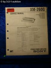 Sony Service Manual XM 260G Power Amplifier (#2911)