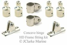 "1"" HD range boat canopy concave hinge frame fittings kit sprayhood binimi cover"