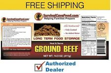 New Survival Cave - Canned meat food storage ground beef case (12 cans) 14.5 oz