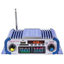Mini HiFi Coche Casa 2-CH Audio Amplificador FM Radio USB MP3 Player /Remoto