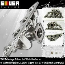 TD05 Turbo Tubular Stainless Steel Manifold for 90-94 Plymouth Laser 4G63T 2.0L