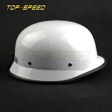 German Half Face Style Helmet Motorcycle Biker Bobber Cruiser White High Quality