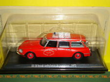 Voiture 1/43e Atlas CITROEN DS - ID 20 Break Ambulance Pompiers - 1972
