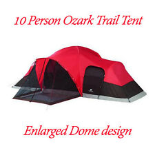 10 Person Tent Ozark Trail 21'x15' Enlarged Dome Family Camping Cabin Tent Porch