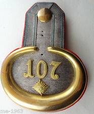 original  SACHSEN  Epaulette Oberleutnant im IR 107  Leipzig