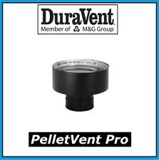 "DURAVENT PELLETVENT PRO 3"" to 6"" Chimney Adapter, Black #3PVP-X6"