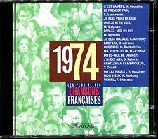 LES PLUS BELLES CHANSONS FRANCAISES - 1974 - CD COMPILATION ATLAS