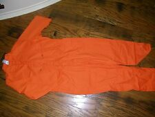 Topps Bright Orange NWT Coveralls Jumpsuit NWT Size 40 Tall  Long Sleeve