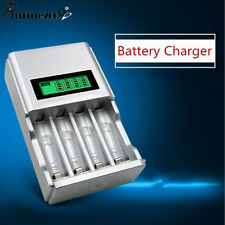 EU Adapter Smart Battery Charger Rechargeable HOUR SUPER FAST LCD AA or AAA