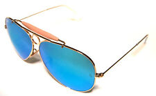 RAY BAN 3138 62 SHOOTER GOLD ORO BLUE MIRROR SPECCHIATO PERSONALIZZATO REMIX