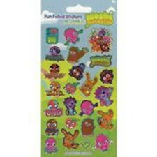 Moshi Monsters Birthday Party - Sheet of 24 Stickers - Free Uk Post