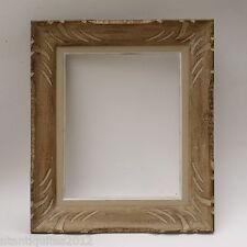 CADRE MONTPARNASSE BOIS SCULPTÉ PATINÉ standard 6 F feuillure : 33 x 41 cm