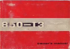 Moto Guzzi owners manual book 850 T3 June 1975 Edition