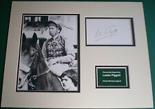 Genuine Lester Piggott Hand Signed Autograph Photo Mount Horse Racing Legend