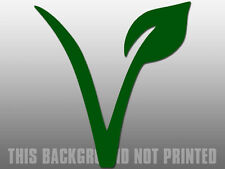 """4"""" green v with lead vegan car sticker decal usa made"""