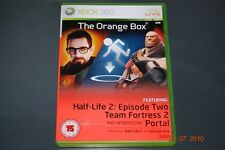 The Orange Box Xbox 360 Half Life 2 Portal Team Fortress UK PAL **FREE UK POST**