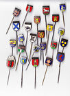 Vintage Dutch City Shield Coat of Arms pin badges 1960s 3/4