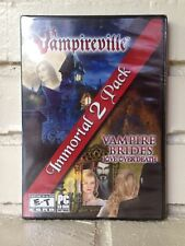 vampireville + vampire brides - 2 mystery horror adventure computer games - new