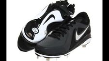 New NIKE AIR MVP PRO METAL SZ 10.5 524641-011 Cleats Black Mtllc Silver NIB