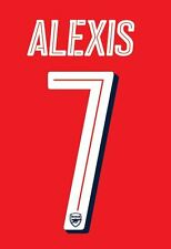 Alexis Sanchez 2016-17 Arsenal Champions League Home Football Nameset for shirt