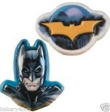 12 BIRTHDAY HERO BOY PARTY SUPPLIES FAVORS MOVIE CAKE CUPCAKE RINGS BATMAN 12