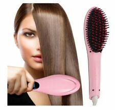 FAST HOT ELECTRIC HAIR STRAIGHTNER BRUSH ELECTRIC COMB FLAT IRON STYLING