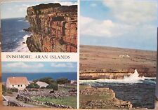 Irish Postcard INISHMORE Multiview Aran Islands Galway Ireland Cardall 326 4x6