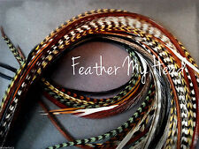 100 FEATHER HAIR EXTENSIONS   NATURAL LONG  WHITING DREAM CATCHER lot2