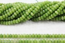 """5x8mm Faceted Peridot Abacus Loose Beads 15"""""""